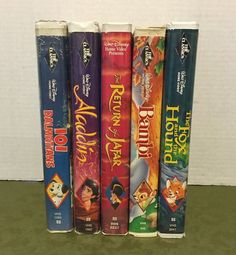 5 Disney VHS The Classics Aladdin 101 Dalmations Bambi Fox & The Hound in DVDs & Movies, VHS Tapes | eBay