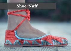Bright crocheted espadrilles by Painted Bird.