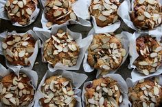 'white chocolate' and raspberry almond muffins
