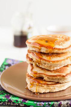 Whole-grain banana pancakes