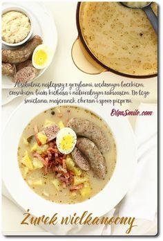 Żurek wielkanocny Polish Easter, Cheeseburger Chowder, Cooking Recipes, Breakfast, Ethnic Recipes, Food, Morning Coffee, Chef Recipes, Essen