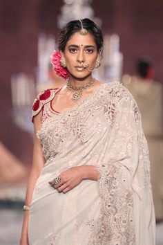 Tarun Tahiliani Bridal Wedding Sari on @southasianbride via @aislesociety