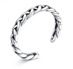Open braided sterling silver ring  Material: 925 Sterling Silver  weight: 2.4g Free Shipping