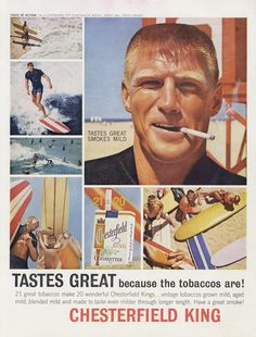 1963 Chesterfield King Cigarettes Ad Man Smoking by AdVintageCom