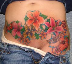 flower tattoos stomach - Google Search