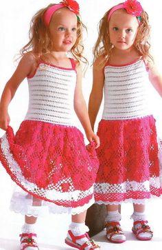 Handmade crochet summer girls dress: Different sizes, pink girl dress, summer girl dress - made to order by NinaZaida on Etsy