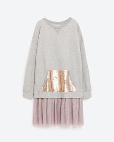 Image 8 of SEQUIN POCKET SWEATSHIRT from Zara