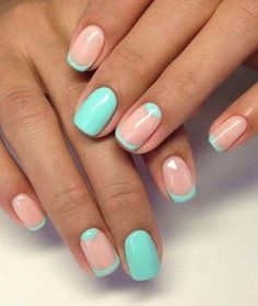 Today i'll show some French Manicure Nail Designs for you ! A French manicure is a chic, polished, and timeless look. What's a French Manicure Nail Design ? Beautybigbang offer French Manicure Nail Designs for 2018 ! French Nail Designs, Best Nail Art Designs, Teal Nail Designs, Simple Designs, Nail Art Design Gallery, Moon Nails, Nagel Hacks, Nail Polish, Christmas Nails
