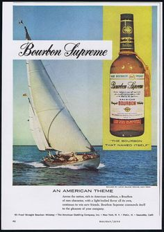 1960 Sailboat Long Island NY Bourbon Supreme Vintage Print Ad   eBay