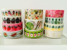 Food Theme Washi Tape in 11 Designs by GoatGirlMH on Etsy