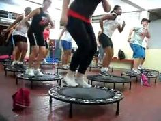 Jump Fit rebounder workout - starts with Mortal Kombat music!