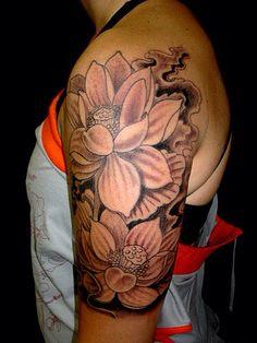 Half sleeve lotus flower tattoo!!! Want!!!!!!