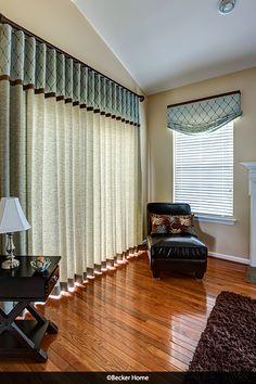 Slider Ripplefold curtains ripplefold drapes valances relaxed roman shade wooden ripplefold rod embroidered diamond fabric sliding door