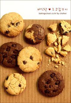 가장 기본적이고 친숙한맛.. 바삭바삭 초코칩 쿠키 만들기~♪♬ 바삭한 초코칩 쿠키 ::<6~7cm 12~13개 ...