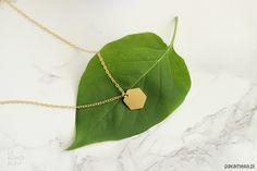 naszyjniki - inne-Small Hexagon Necklace