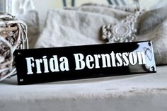 Enamel Name Plate 2.0 x 8.3 by enamelsign on Etsy, $109.00