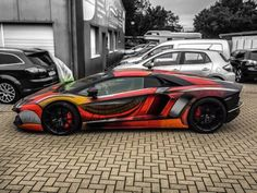 Cars Tuning Music: Lamborghini Aventador превратили в хамелеона
