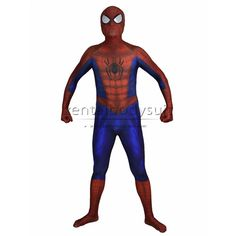 Spider-man is one famous superhero around the world, there have many spider-man lovers from all ages. This new suit is based on the design of the Classic Spider-man Spiderman Costume, Zentai Suit, Bodysuit, Halloween Party Costumes, Super Hero Costumes, Costume Accessories, 3d Printing, Suits, Superhero
