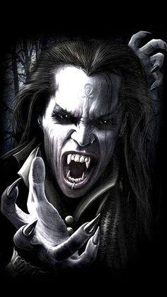 Vampire Love, Female Vampire, Gothic Vampire, Vampire Art, Scary Vampire, Vampire Skull, Arte Horror, Horror Art, Fantasy Creatures