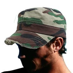 Fidel Cap Cadet Military Style Hat Army Hunting Camoflarge Cap Castro 1sz Fit