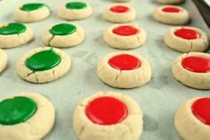 Christmas Thumbprint Cookies-
