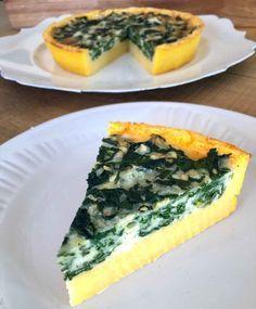 Quiche de Polenta and Spinach Veggie Recipes, Gourmet Recipes, Cooking Recipes, Healthy Recipes, Snack Recipes, Empanadas, Quiches, Quick Easy Vegan, Pak Choi