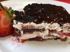 Chocolate Strawberry Icebox Cake