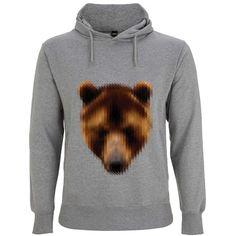 Hoddie mit Bärprint - Lässiger brauner Hoodie von JUNIQE. Der Hoodie überzeugt mit seinem stylischen Bärenprint. - ab 45,00€