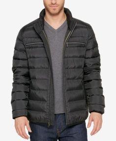 Cole Haan Men's Quilted Zip-Front Jacket - Black XXL