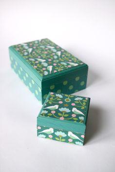 DIY: Omklädda jewelery boxes