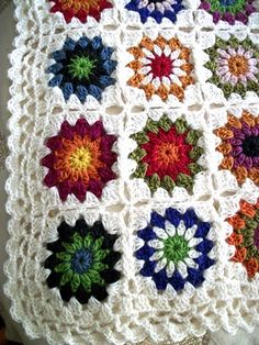 Grandma's house - I remember my Grandma teaching me to crochet.  She started the center of the block for me and off I went. What great memories.