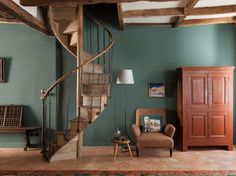 Retrouvius Reclamation and Design. Love this take on the spiral staircase..