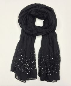 Sequin Scarf - would be fun to do an infinity scarf with sequins.