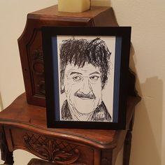 Kurt Vonnegut - Sketch Print - 2 sizes - Black and White - Pen