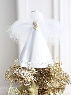 Make a Christmas angel for the tree