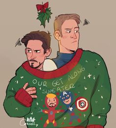 I thought of Vision knitting christmas sweaters for some reason, then this happened.