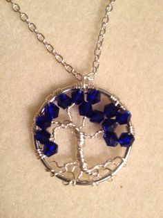 Petite Cobalt Crystal Tree of Life  Handmade by Just4FunDesign, $22.00