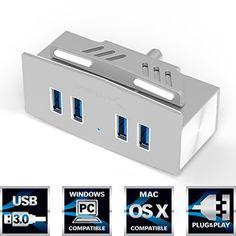 "Sabrent Mountable Premium 4 Port Aluminum USB 3.0 Hub for LCD Display, Shelves or Desks that is 1"" thick or less [Silver] (HB-MCUS) Sabrent http://www.amazon.com/dp/B00UN2IGOM/ref=cm_sw_r_pi_dp_lAKYwb0NVHYBW"