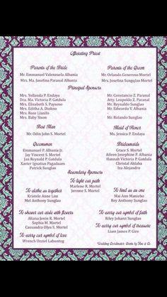Sample Entourage Page Wedding Favors Invitations