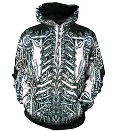 HighFS Unisex Vines Skeleton 3D Digital Print Hoodie Sweatshirt Jacket for Halloween Party ** This is an Amazon Affiliate link. Read more reviews of the product by visiting the link on the image.