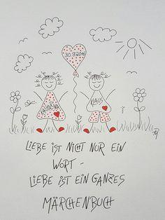 Geschenke für Frauen - Gute Laune für die Wand ...zur Hochzeit - ein Designerstück von textatelier bei DaWanda