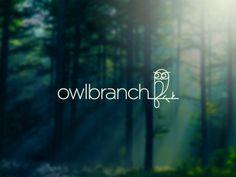Owlbranch Logo Design | More logos http://blog.logoswish.com/category/logo-inspiration-gallery/ #logo #design #inspiration