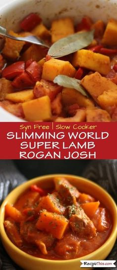 Syn Free Slimming World Lamb Rogan Josh Curry. This curry is so easy to make and… Syn Free Slimming World Lamb Rogan Josh Curry. This curry is so easy to make and only requires a small amount of lamb keeping it very frugal. Slimming World Curry, Slow Cooker Slimming World, Best Slow Cooker, Crock Pot Slow Cooker, Slow Cooker Recipes, Crockpot Recipes, Spicy Recipes, Curry Recipes, Asian Recipes
