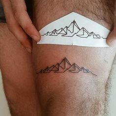 """Simple mountains #tattoo #simpletattoo #cutetattoo #smiletattoo #ink #inked…"