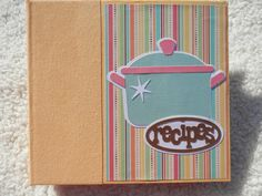 6x6 Recipe Book Scrapbook Album by SimplyMemories on Etsy