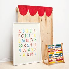Letter Press Posters For Kids - abc