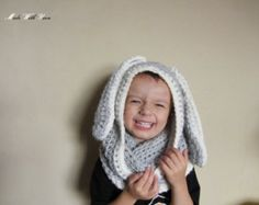 Rabbit Hood Knitting Pattern ZAÏKA Toddler Child by KatyTricot