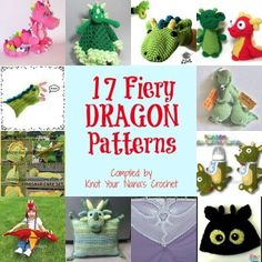 Crochet 17 Fiery Dragon Patterns