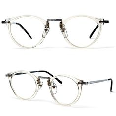 80s James Keyhole Round Frame Wayfarer Clear glasses