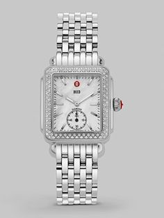 Michele Watches - Deco Mother of Pearl & Diamond Watch - $1545 - not really a silver person but this would be a nice watch to have